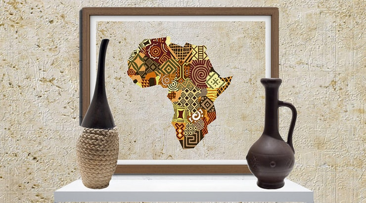 African Decor wall prints for cheap