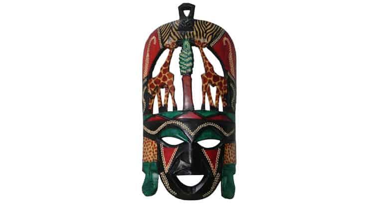 African hanging mask