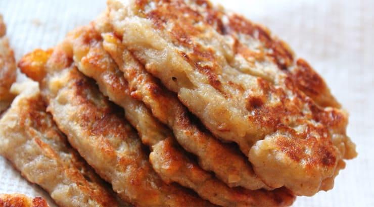 Top Jamaican banana pancakes stack dessert