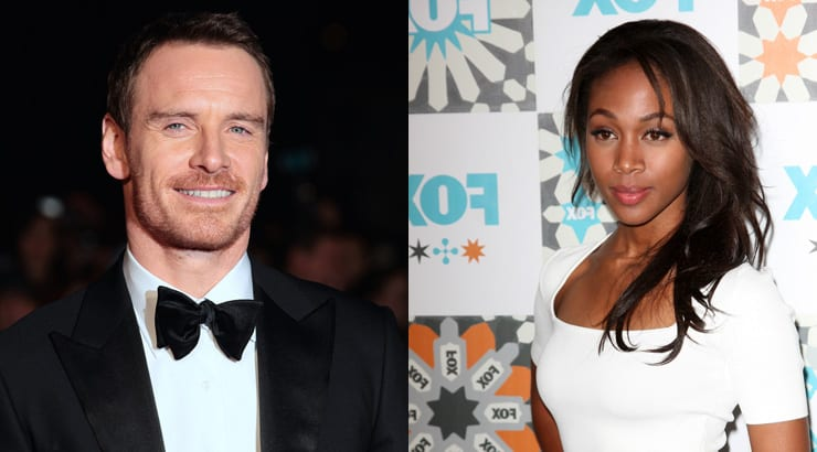 BW-WM lovers Michael Fassbender and Nicole Beharie having fun