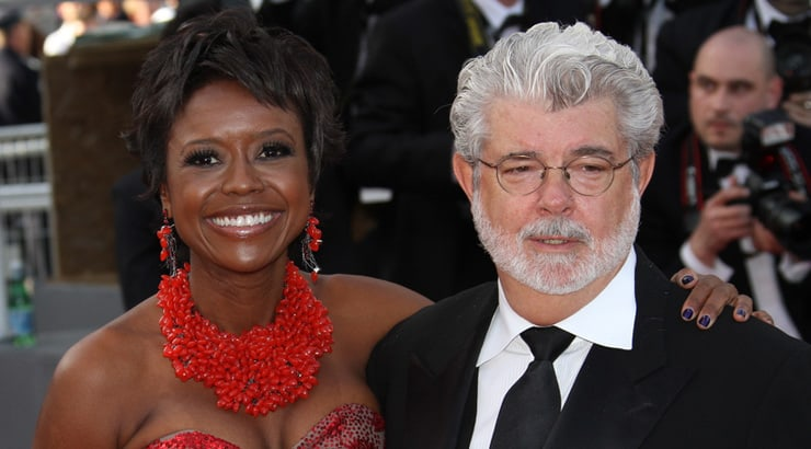George Lucas and Mellody Hobson are another white man black woman couple