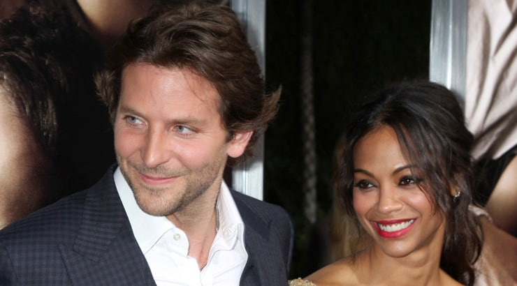 Bradley Cooper and Zoe Saldana are a well known partnership