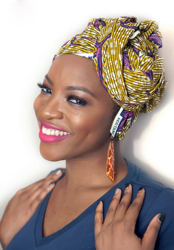 Kanga and Leso African head wraps
