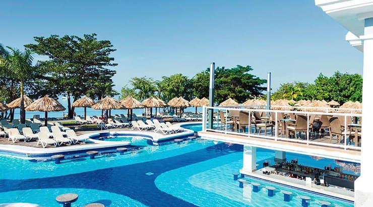 The Beautiful Riu Negril Hotel Of The Jamaican Island