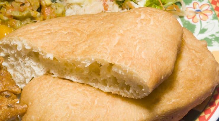 Fry bake and saltfish is a main dish in Trinidad & Tobago