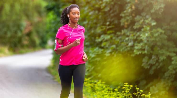 Black Woman Exercising Outside