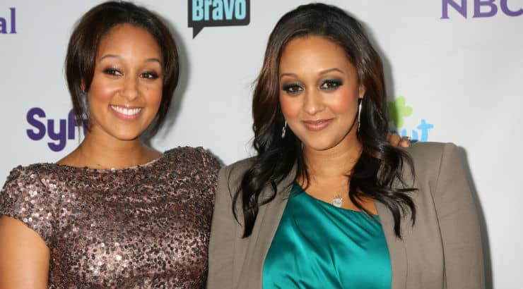 TV sitcom family Tia and Tamera from the Sister Sister series