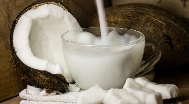 Nigerian food: coconuts and coconut milk