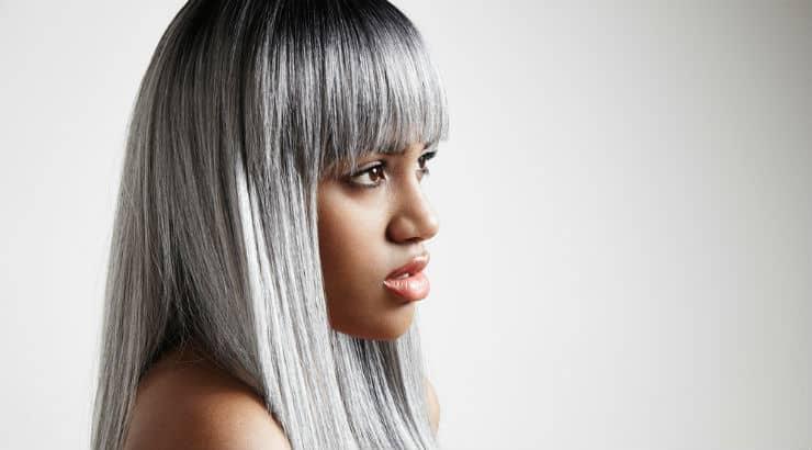 Grey hair dye looking good on black women