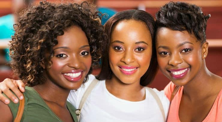 Three female friends