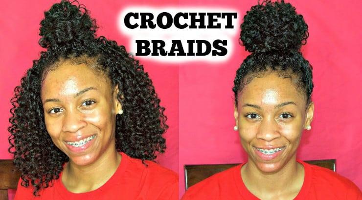 Ponytail crochet braids