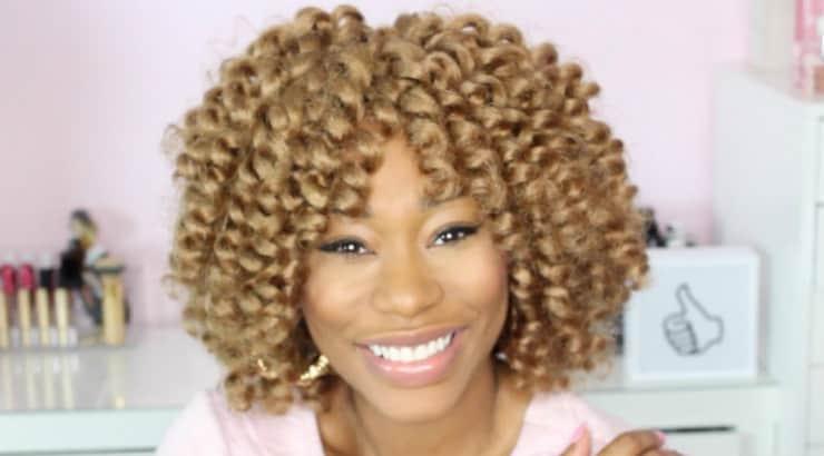 Blonde crochet braids