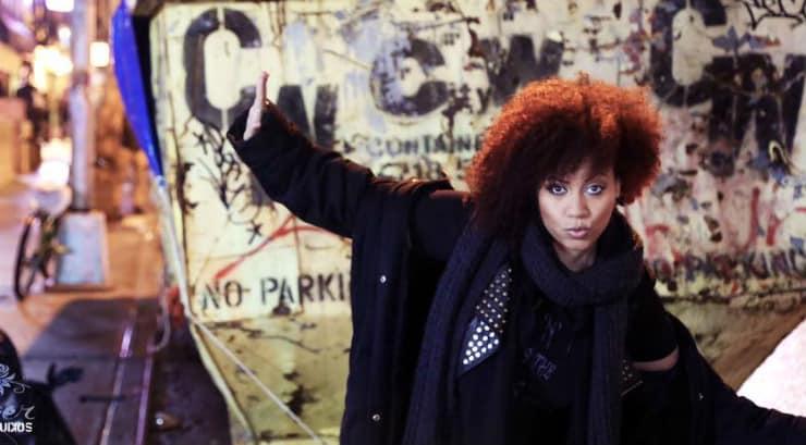 Black female rock musician Militia Vox