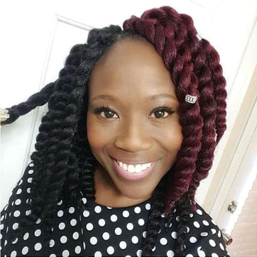 Crochet braids with twists protective