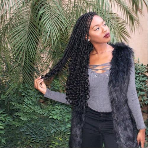 Goddess locs protective style work great on short afro hair