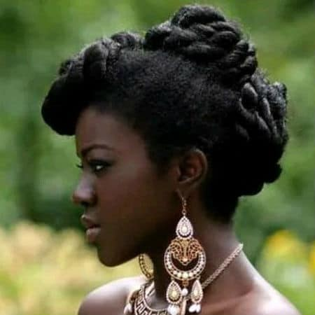 Twisted 4c updo protective style