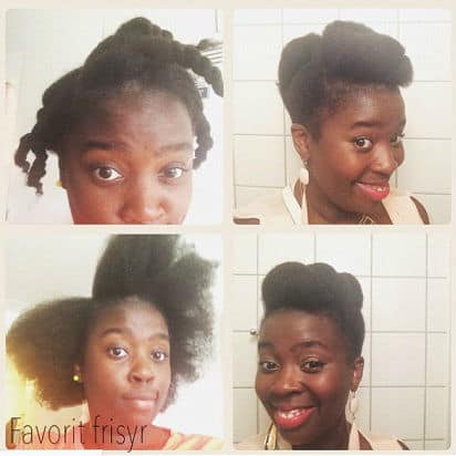 African American Updo protective style