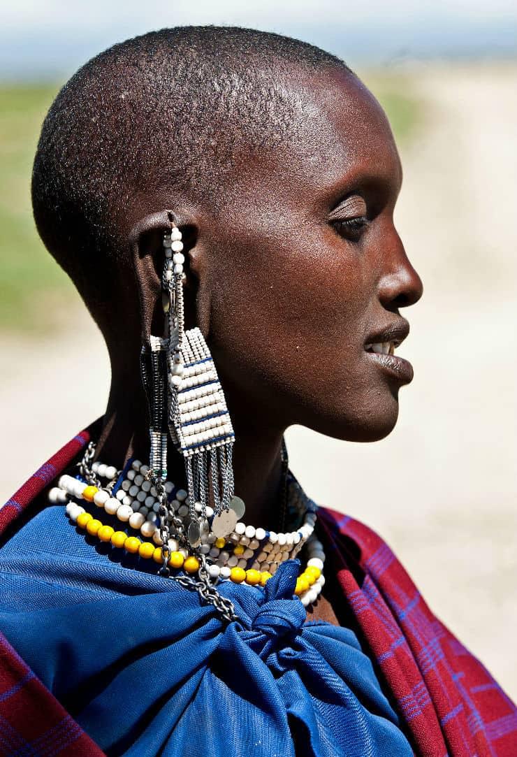 Maasai Woman Hairstyle East Africa