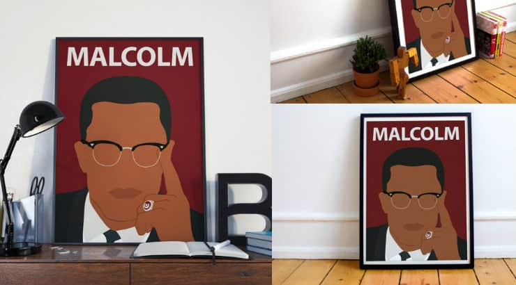 Malcolm X Black History Month Canvas