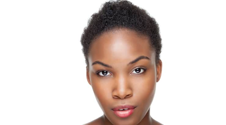 Black woman with a tempered mohawk