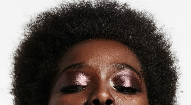A black girl with short hair
