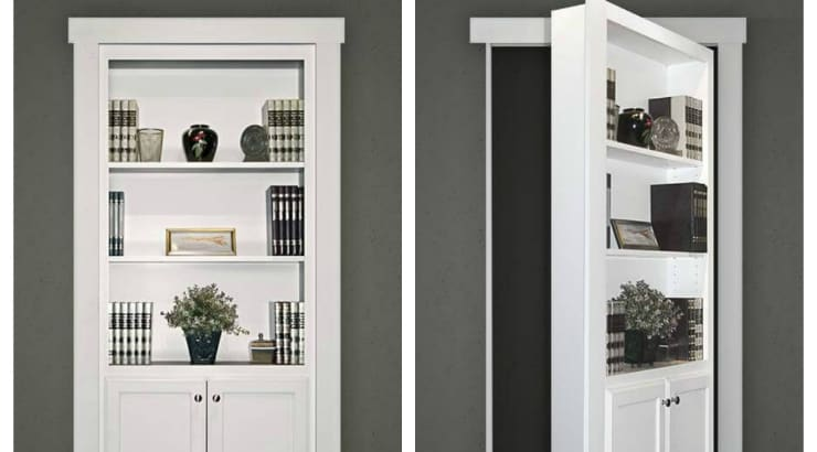 Hidden Door Bookshelf on sale