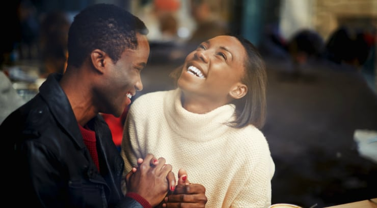 Laughing is one part of a good relationship