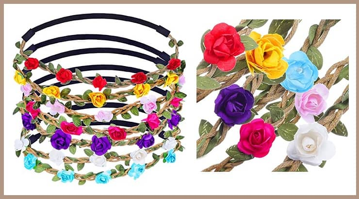 Floral Head Band Afro Hair Accessories