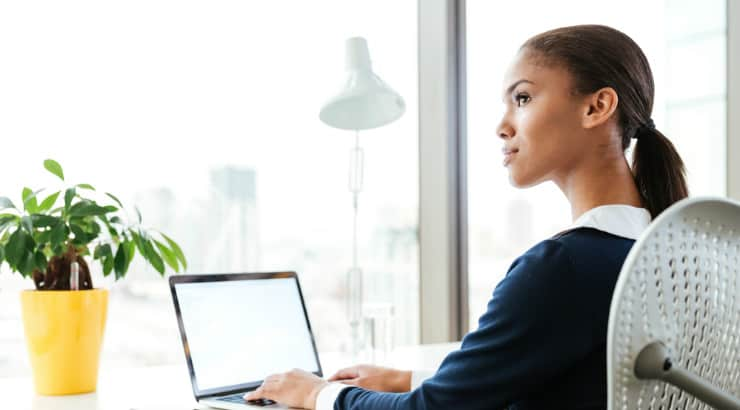 Black Female Freelance Writer Working From Home