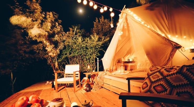 Backyard Glamping Camping Tent