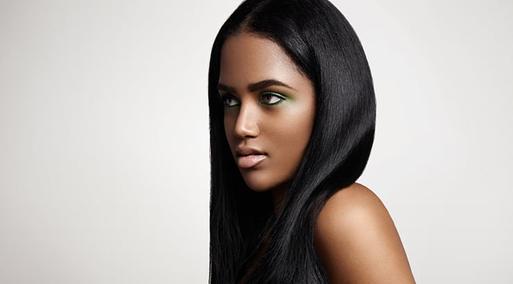 African American Woman With Straight Hair