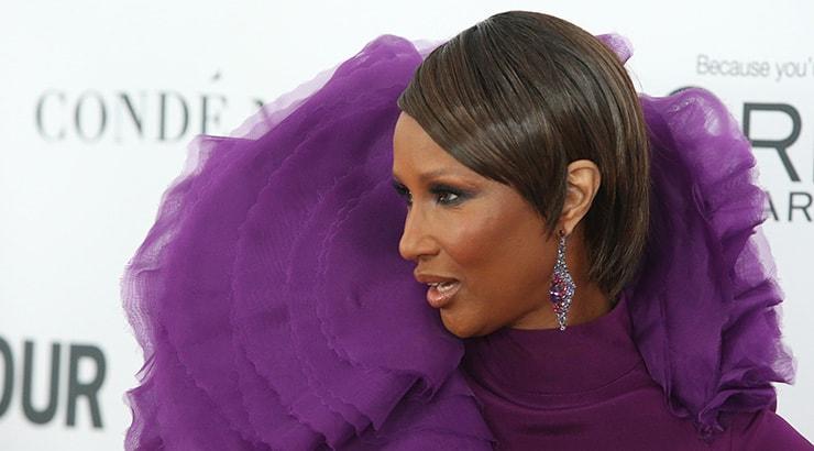 African American woman wearing Iman makeup