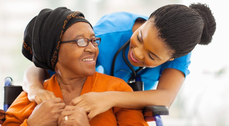 A Proverbs 31 Woman Shows Kindness by Comforting a Senior Patient