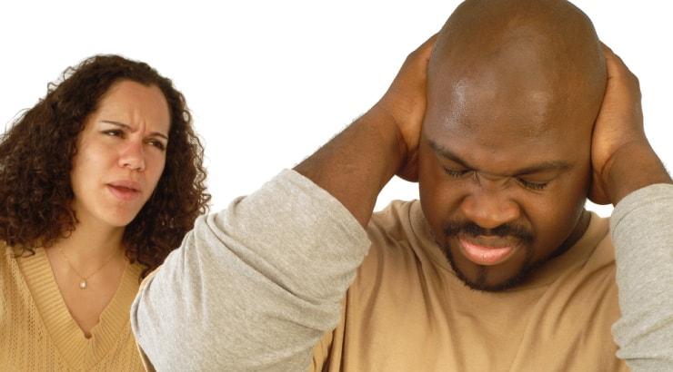 Unreasonable Black Woman Nags Husband After a Hard Day at Work