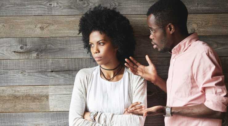 Black Woman Giving Her Husband The Silent Treatment After He Has Cheated