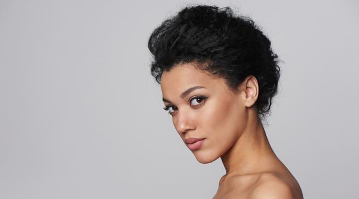Light Skin Tone Black Woman, Pecan Brown Portrait