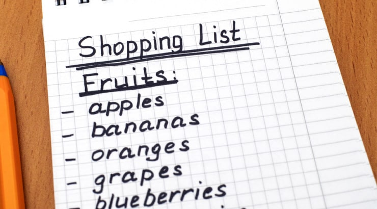 Create a Shopping List to Make Shopping For Your Vegan Meals Easier