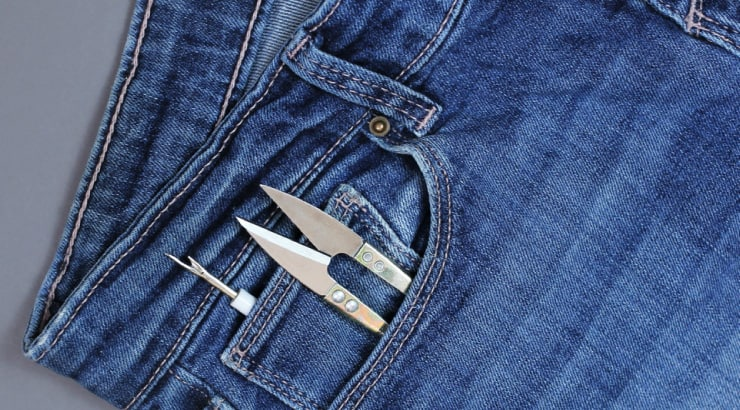 Cut the Side Seam of your Denim to Add Additional Material to the Sides
