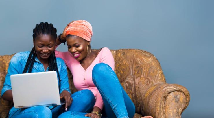 Two Black Women Looking Snug in Their Skinny Jeans