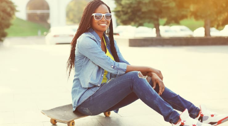 Black Woman Wearing a Comfortable Pair of Jeans