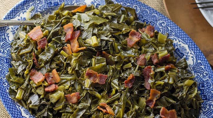Soul Food dishes with collard greens