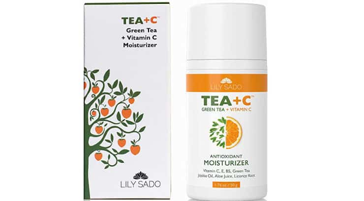 LILY SADO Green Tea and Vitamin C Face Moisturizer Cream
