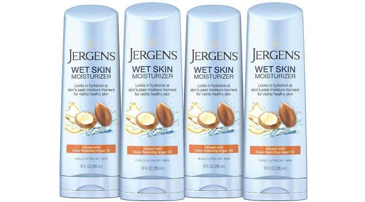 Jergens Wet Skin Body Moisturizer With Restoring Argan Oil