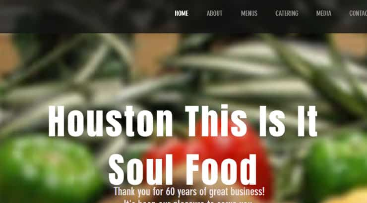 """Houston's """"This Is It"""" Soul Food"""