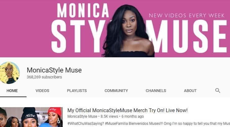 MonicaStyleMuse Black Youtuber