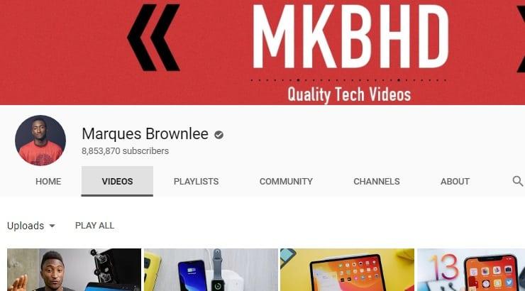 Marques Brownlee Black Youtuber