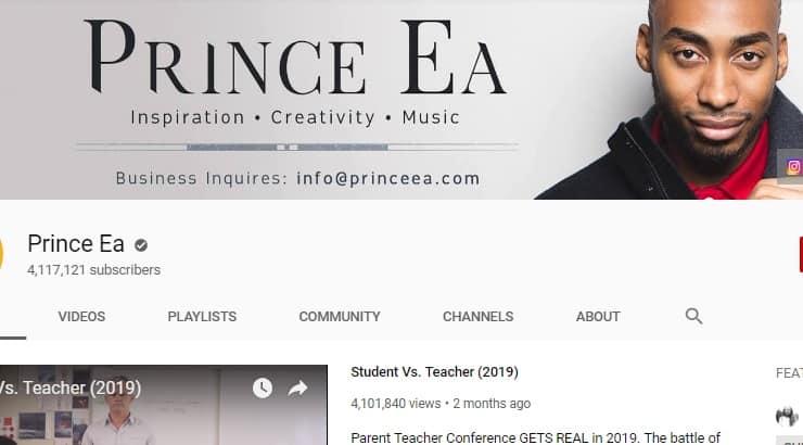 Prince EA Black Male Youtuber