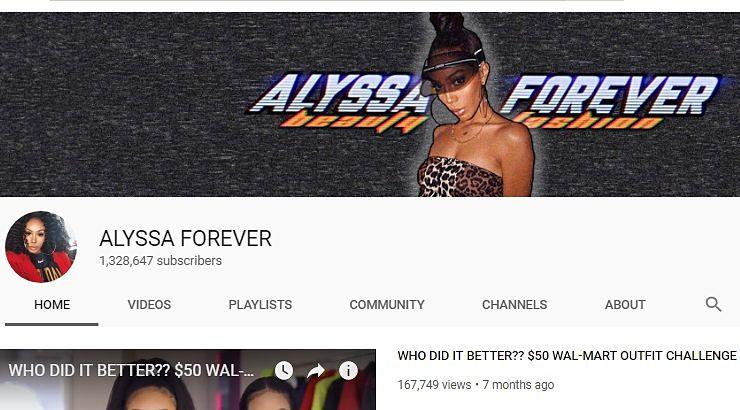 Black Female Youtuber Alyssa Foreverr