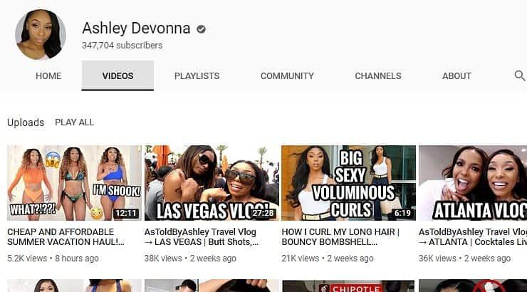 Ashley Devonna Black Youtuber