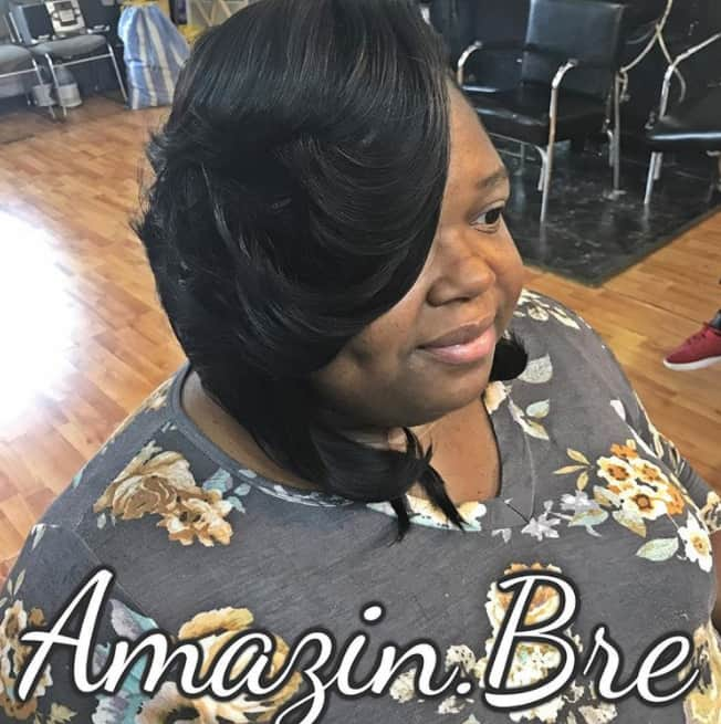 One side heavy quick weave